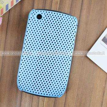 Custodia Blackberry Curve 8520 Rete Cover Rigida Guscio - Blu