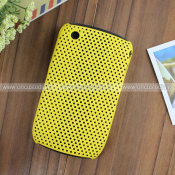 Custodia Blackberry Curve 8520 Rete Cover Rigida Guscio - Giallo