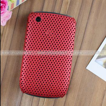 Custodia Blackberry Curve 8520 Rete Cover Rigida Guscio - Rosso