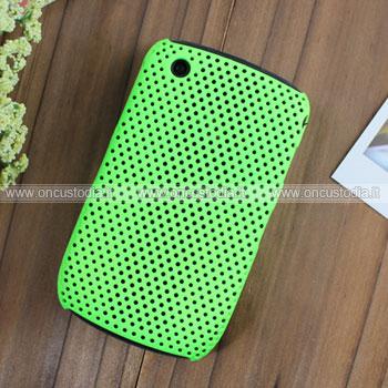 Custodia Blackberry Curve 8520 Rete Cover Rigida Guscio - Verde