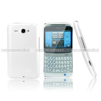 Custodia HTC Chacha G16 A810e Plastica Cover Rigida Guscio - Bianco