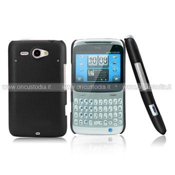 Custodia HTC Chacha G16 A810e Plastica Cover Rigida Guscio - Nero