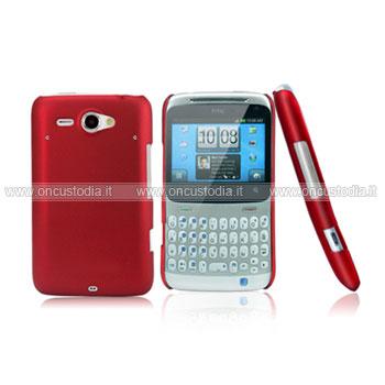 Custodia HTC Chacha G16 A810e Plastica Cover Rigida Guscio - Rosso