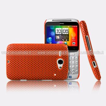 Custodia HTC Chacha G16 A810e Rete Cover Rigida Guscio - Arancione