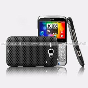 Custodia HTC Chacha G16 A810e Rete Cover Rigida Guscio - Nero