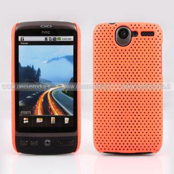 Custodia HTC Desire Bravo G7 A8181 Rete Cover Rigida Guscio - Arancione