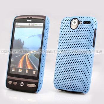 Custodia HTC Desire Bravo G7 A8181 Rete Cover Rigida Guscio - Blu