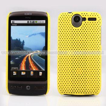 Custodia HTC Desire Bravo G7 A8181 Rete Cover Rigida Guscio - Giallo