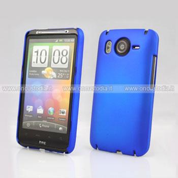 Custodia HTC Desire HD G10 A9191 Plastica Cover Rigida Guscio - Blu