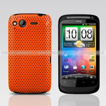 Custodia HTC Desire S G12 S510e Rete Cover Rigida Guscio - Arancione