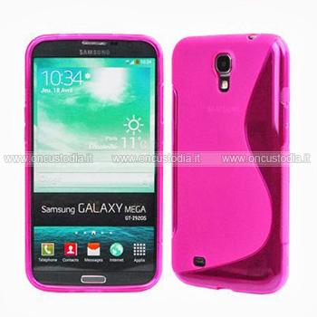 Custodia Samsung Galaxy Mega 6.3 i9200 i9205 S-Line Silicone Bumper - Fucsia