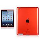 Custodia Apple iPad 2 Grid TPU Silicone Case - Rosso