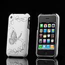 Custodia Apple iPhone 3G Farfalla Plastica Cover Rigida - Bianco