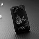 Custodia Apple iPhone 3G Farfalla Plastica Cover Rigida - Nero