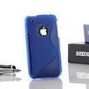 Custodia Apple iPhone 3G S-Line Silicone Bumper - Blu