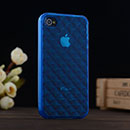 Custodia Apple iPhone 4 Diamante TPU Silicone Case Gel - Blu