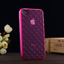 Custodia Apple iPhone 4 Diamante TPU Silicone Case Gel - Fucsia