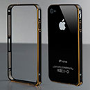 Custodia Apple iPhone 4 Frame Metal Plated Cover Rigida - Nero