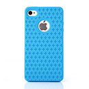 Custodia Apple iPhone 4 Plus Sign Silicone Gel Case - Luce Blu