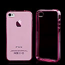 Custodia Apple iPhone 4 Silicone Trasparente Case - Rosa