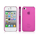 Custodia Apple iPhone 4 Ultrasottile Plastica Cover Rigida Guscio - Porpora