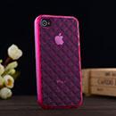 Custodia Apple iPhone 4S Diamante TPU Silicone Case Gel - Fucsia