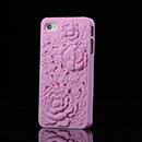 Custodia Apple iPhone 4S Fiori Plastica Cover Rigida - Rosa