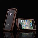 Custodia Apple iPhone 4S Frame Silicone Bumper - Brown