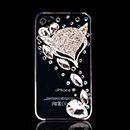 Custodia Apple iPhone 4S Lusso Diamante Bling Fox Bumper Rigida - Bianco