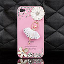Custodia Apple iPhone 4S Lusso Diamante Bling Ragazza Bumper Rigida - Rosa