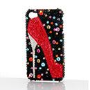 Custodia Apple iPhone 4S Lusso Diamante Bling Scarpe Bumper Rigida - Rosso