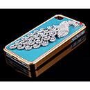 Custodia Apple iPhone 4S Pavone Diamante Bling Cover Bumper - Blu