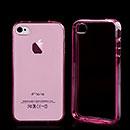 Custodia Apple iPhone 4S Silicone Trasparente Case - Rosa