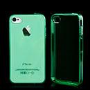 Custodia Apple iPhone 4S Silicone Trasparente Case - Verde