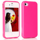 Custodia Apple iPhone 4S Trasparente TPU Silicone Case - Rosa