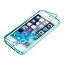 Custodia Apple iPhone 5 Flip Silicone Bumper - Blu