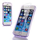 Custodia Apple iPhone 5 Flip Silicone Bumper - Porpora