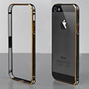 Custodia Apple iPhone 5 Frame Metal Plated Cover Rigida - Nero