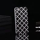 Custodia Apple iPhone 5 Griglia Alluminio Metal Plated Bumper Rigida - Nero