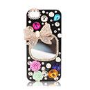 Custodia Apple iPhone 5 Lusso Bowknot Diamante Bling Bumper Rigida - Misto