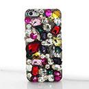 Custodia Apple iPhone 5 Lusso Diamante Bling Cover Rigida - Misto