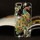 Custodia Apple iPhone 5 Pavone Diamante Bling Cover Rigida - Colorato