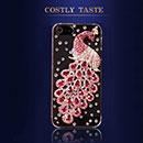 Custodia Apple iPhone 5 Pavone Diamante Bling Cover Rigida - Fucsia
