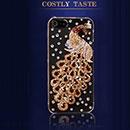 Custodia Apple iPhone 5 Pavone Diamante Bling Cover Rigida - Giallo