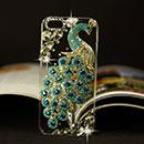 Custodia Apple iPhone 5 Pavone Diamante Bling Cover Rigida - Luce Blu