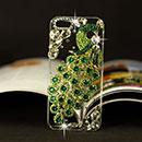 Custodia Apple iPhone 5 Pavone Diamante Bling Cover Rigida - Verde