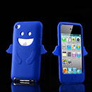 Custodia Apple iPod Touch 4 Angelo Silicone Gel Case - Luce Blu