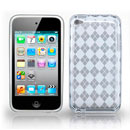 Custodia Apple iPod Touch 4 Grid TPU Silicone Case Gel - Bianco