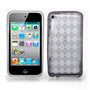 Custodia Apple iPod Touch 4 Grid TPU Silicone Case Gel - Grigio