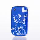 Custodia Blackberry Curve 8520 Farfalla Plastica Cover Bumper - Blu